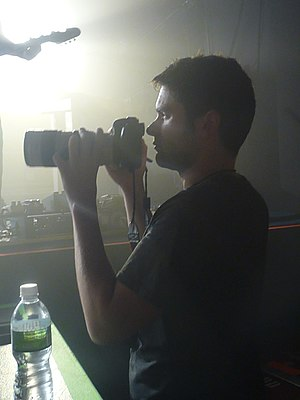 "Rob Sheridan - Rob Sheridan on the set of Nine Inch Nails' ""Wave Goodbye"", Aug 26, 2009"