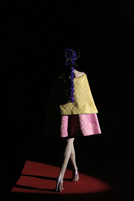 Christian Lacroix, 20 Years of Haute Couture on the Catwalk. Robe lacroix arles 2008.jpg