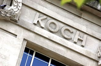 Robert Koch - Koch's name as it appears on the LSHTM frieze in Keppel Street, Bloomsbury, London
