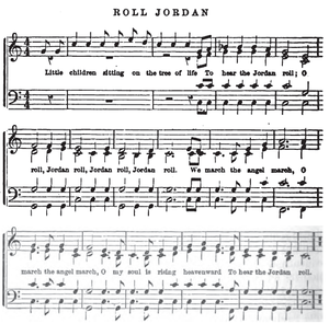 Roll, Jordan, Roll - Version of the song included in Four Years of Fighting (1866)