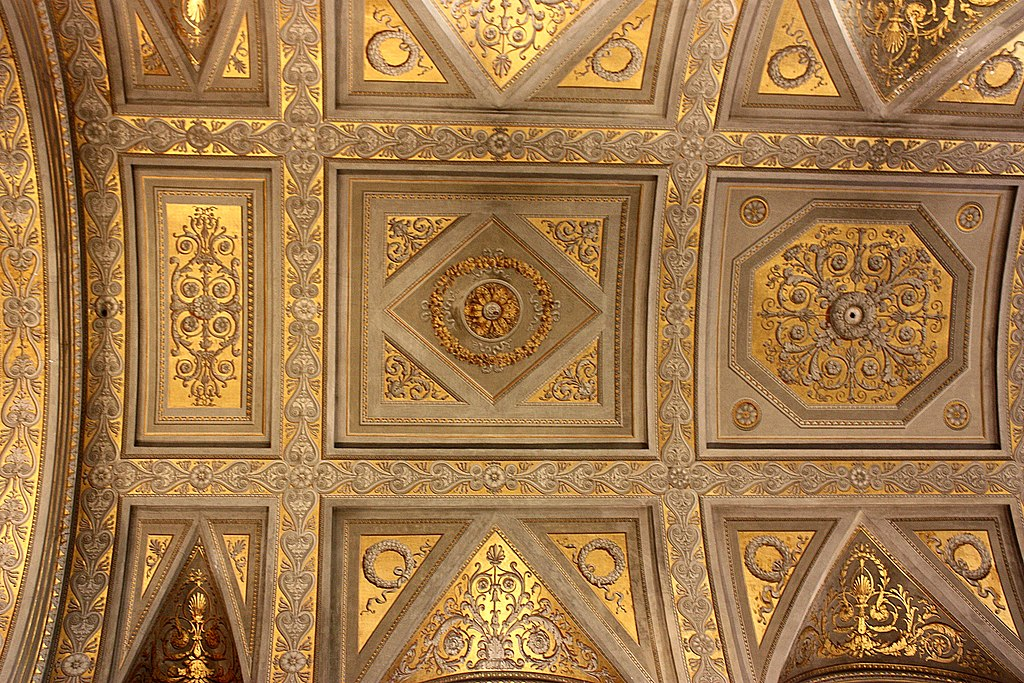 Rom, die Kirche Santa Maria di Monserrato, die Decke.JPG