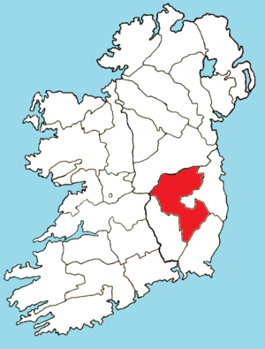 Roman Catholic Diocese of Kildare and Leighlin - Image: Roman Catholic Diocese of Kildare Leighlin map