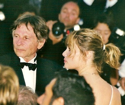 Polanski with wife Emmanuelle Seigner at the 1992 Cannes Film Festival. Roman Polanski Emmanuelle Seigner Cannes.jpg