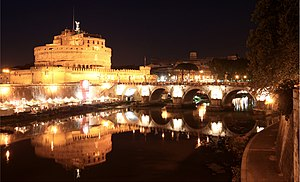 English: Castel Sant'Angelo and Ponte Sant'Ang...