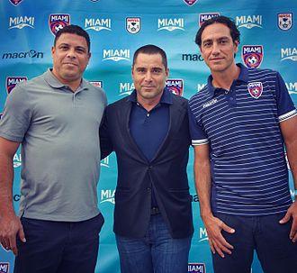 Riccardo Silva - Riccardo Silva (center) with Ronaldo and Alessandro Nesta