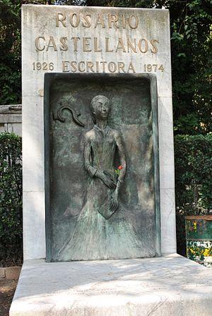 Tomb of Rosario Castellanos in the Panteon Civ...