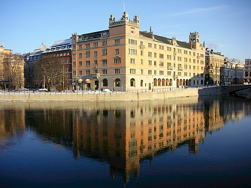 Rosenbad, in central Stockholm, has been the seat of the Government since 1981. Rosenbad 2006.jpg