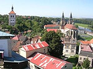 Roudnice nad Labem - Image: Roudnice, zvonice a kostel, z hlásky