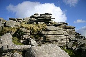 Cornubian batholith - Granite at Rough Tor on Bodmin Moor