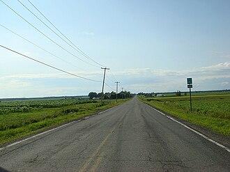 Quebec Route 143 - Route 143 near Saint-Bonaventure, Quebec
