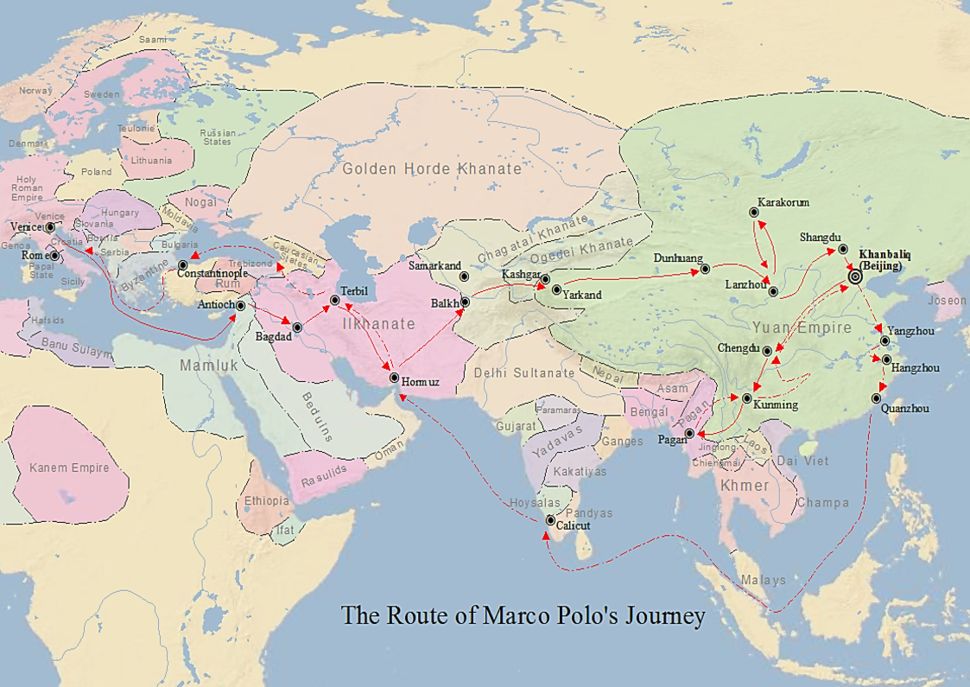 Route of Marco Polo