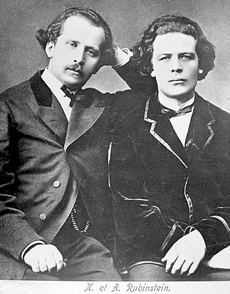 Pyotr Ilyich Tchaikovsky - Anton (right) and Nikolai Rubinstein