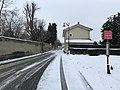 Rue des Andrés sous la neige et arrêt du 8 mai 1945.JPG