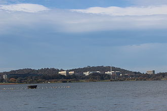 Russell, Australian Capital Territory - Russell, Canberra from Regatta Point, looking across Lake Burley Griffin