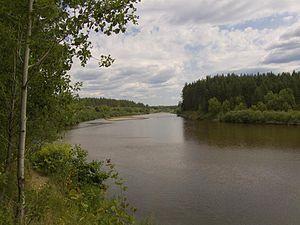 Bolshaya Kokshaga River - Image: Russian Kokshaga