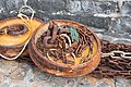Rusty fishing weights and chains, Lyme Regis.jpg