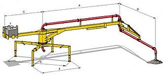 Concrete pump - BRF 42.14 H pump