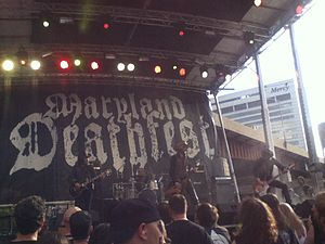 Maryland Deathfest - Sólstafir performing on Friday at Edison Lot