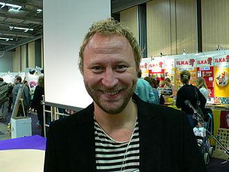 Anders Jacobsson and Sören Olsson - Sören Olsson at the Gothenburg Book Fair in 2007.