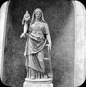 Fortuna - Vatican, Rome, Italy. Statue of Fortune. Brooklyn Museum Archives, Goodyear Archival Collection