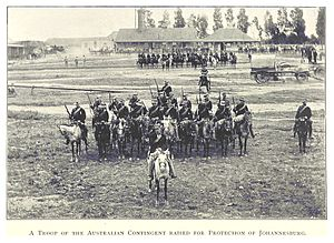 Military history of Australia during the Second Boer War - A troop of the Australian Contingent raised for the protection of Johannesburg (1899).