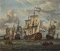SA 5611-Het fregat Pieter en Paul op het IJ-Het met medewerking van czaar Peter de Grote in januari 1698 voltooide fregat Pieter en Paul op het IJ.jpg