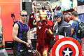 SDCC 2012 - Hawkeye, Iron Man & Captain America (7574212914).jpg
