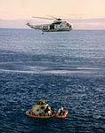 SH-3D of HS-4 over Apollo 10 command module 1969.jpg