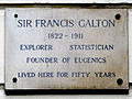 SIR FRANCIS GALTON 1822-1911 EXPLORER STATISTICIAN FOUNDER OF EUGENICS LIVED HERE FOR FIFTY YEARS.jpg