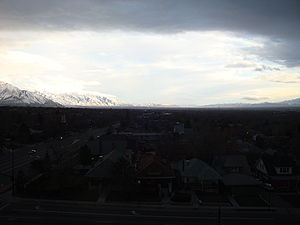 Winter storm - Approaching winter storm in Salt Lake City.