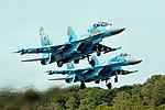 SU-27 Flankers - RIAT 2017 (35485671143).jpg