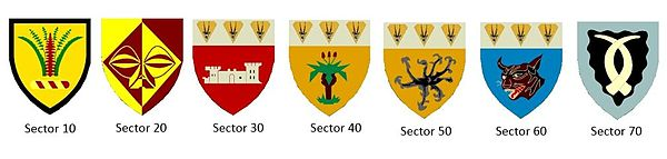 SWATF Sector emblems