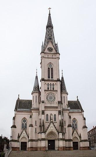 Kőszeg - Image: Sacred Heart Church, Kőszeg, 2016 03 07