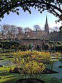 Saffron Walden - Bridge End Gardens - looking across the Rose Garden toward St Mary the Virgin.jpg