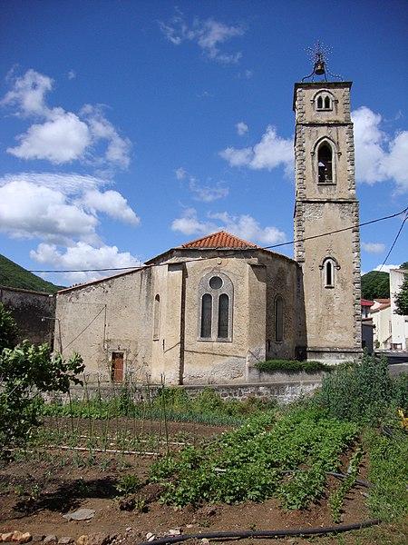 Saint-Étienne-Estréchoux (Hérault, Fr) - L'église Saint-Étienne