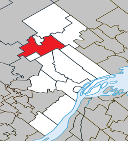 Location within D'Autray RCM