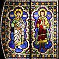 Saint Bartholomew and Ansanus - Duccio's rose window - Museo dell'Opera del Duomo - Siena 2016.jpg