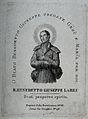 Saint Benedict Joseph Labre. Line engraving. Wellcome V0031691.jpg