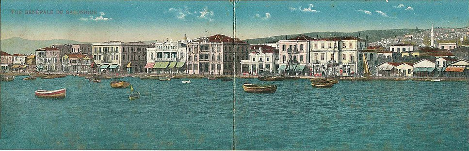 The seafront of Thessaloniki, as it was in 1917.