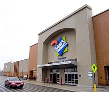 Store front of a sam's club store in Maplewood, Missouri