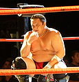 Samoa Joe pensive in London Sep 2008.jpg