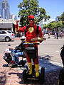 San Diego Comic-Con 2011 - the Flash on a Segway (wouldn't that slow him down?) (5992831389).jpg