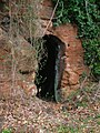Sandstone cave, Old Barskimming Bridge, Mauchline, Ayrshire.JPG