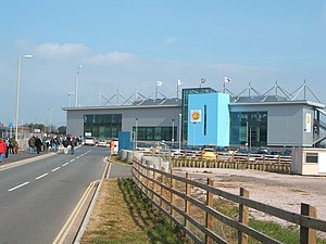 Sandy Park - The exterior of the stadium