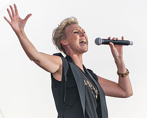 Sanna Nielsen - Sanna Nielsen performing at Stockholm Pride 2015
