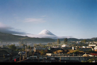 Santa María (volcano) - The volcano as seen from the nearby city of Quetzaltenango