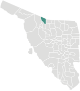 Position of Saric Municipality in Sonora