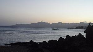 Scenic sunset image in Puerto Del Carmen, Lanzarote