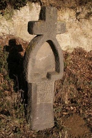 Basalt cross - Image: Schöpflöffel mit Kreuz