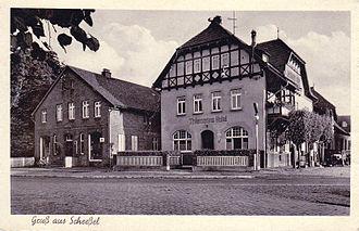 """Scheeßel - Postcard """"Gruß aus Scheeßel"""",circa 1920-1930"""